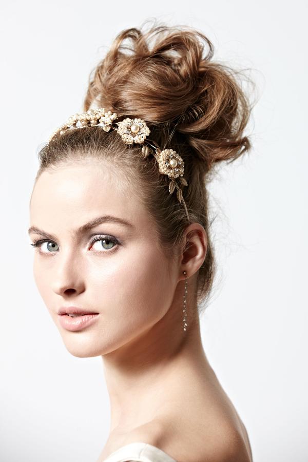 Summer Wedding Hair Inspiration Top Knot High Bun