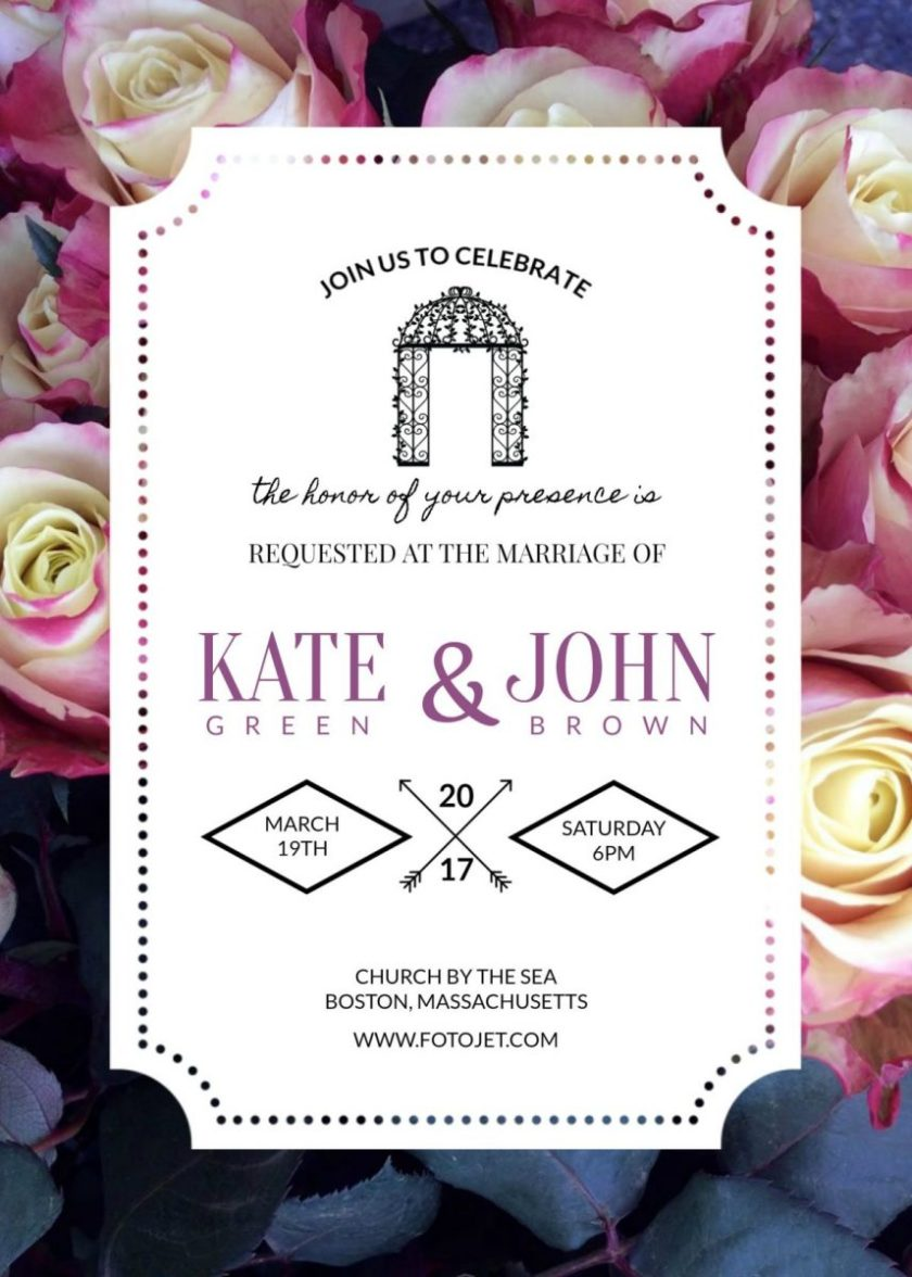 3 Beautiful Free Wedding Invitation Templates That You Can Make Yourself On Fotojet