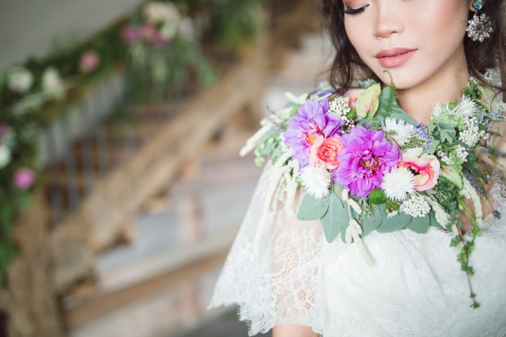 Whimsical Lavender and Green Styled Shoot