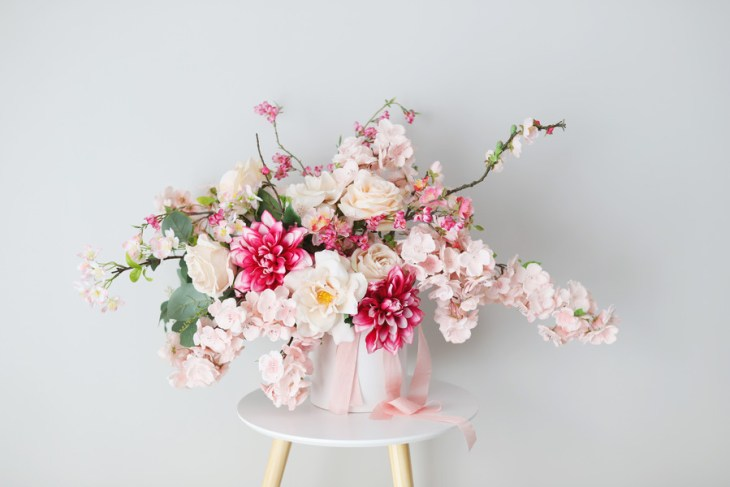 DIY Artificial Cherry Blossom Bouquet Made Easy