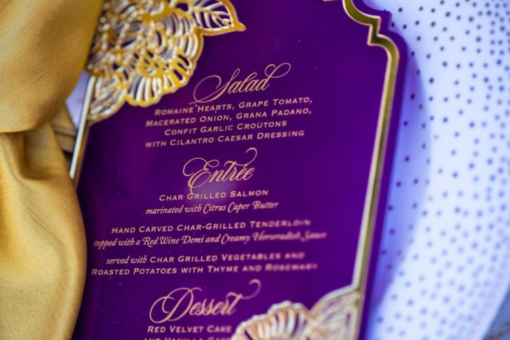 Color Palette: Magenta, Lilac, Gold