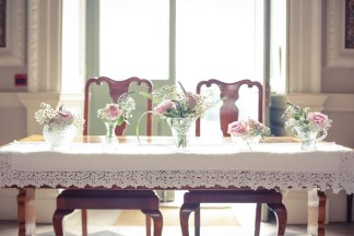 Hired cloth and vintage vases