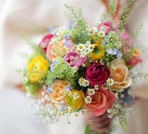 Brides Colourful Bouquet