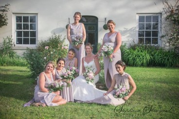 Brides and Bridesmaids Hand tie Bouquets