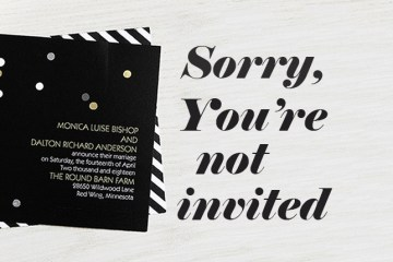 sorry you're not invited - how to let guests know you're having a small wedding weddingfor1000.com