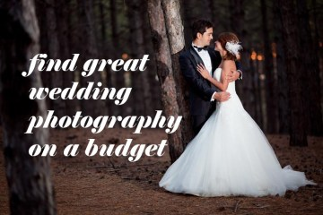 Five ways to find great budget wedding photography - weddingfor1000.com