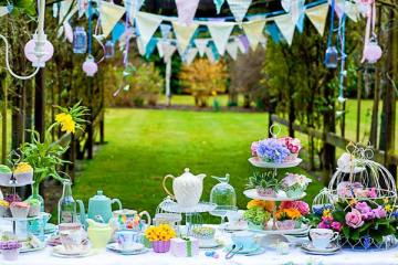 Have a Posh English Tea Party Wedding Reception - weddingfor1000.com