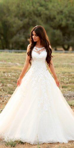 a line wedding dresses lace illusion sweetheart neckline enzoani