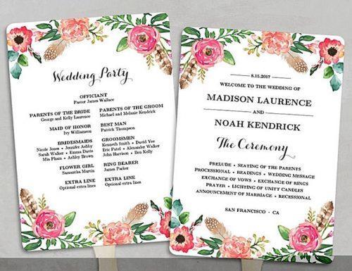 Wedding Program Samples 3