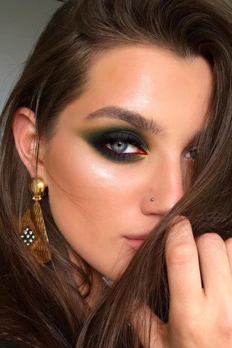 fall wedding makeup bold dark green eyes makeup tominamakeup
