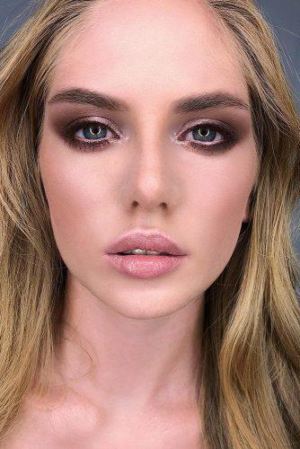 fall wedding makeup brown pink smoky eyes and naturel matte lips deniskartashev