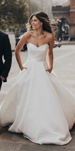 a line wedding dresses sweetheart strpaless neckline simple suzanneneville