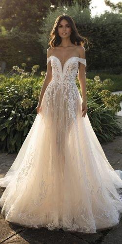 a line wedding dresses off the shoulder sweetheart neckline pronovias