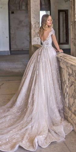 Váy cưới wona bóng áo choàng ren lưng thấp với tàu hỏa 2020 Illum Ảnh váy cưới lấp lánh