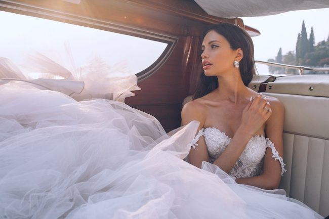 bride in wedding car Wedding Makeup Ideas and Looks
