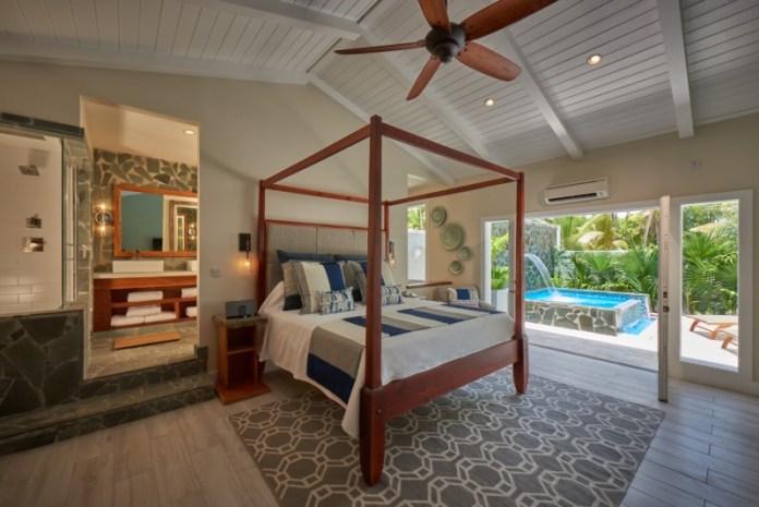 Plunge pool suite at serenity
