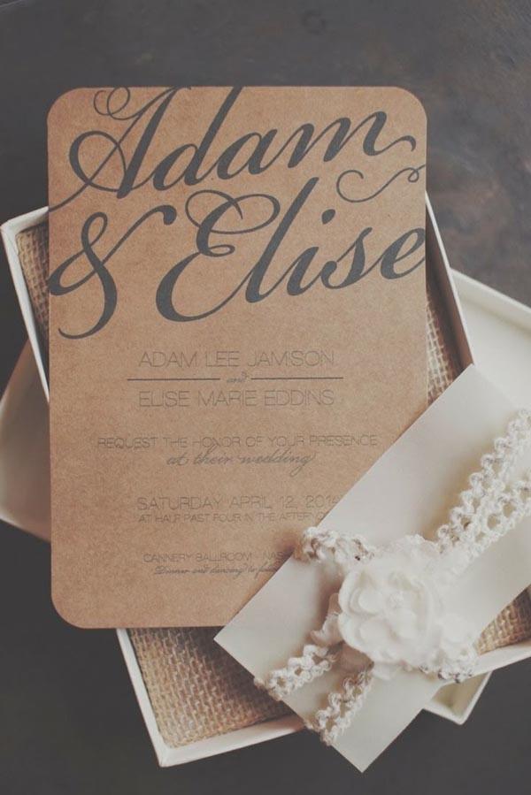 Rustic Wedding Invitations Samples