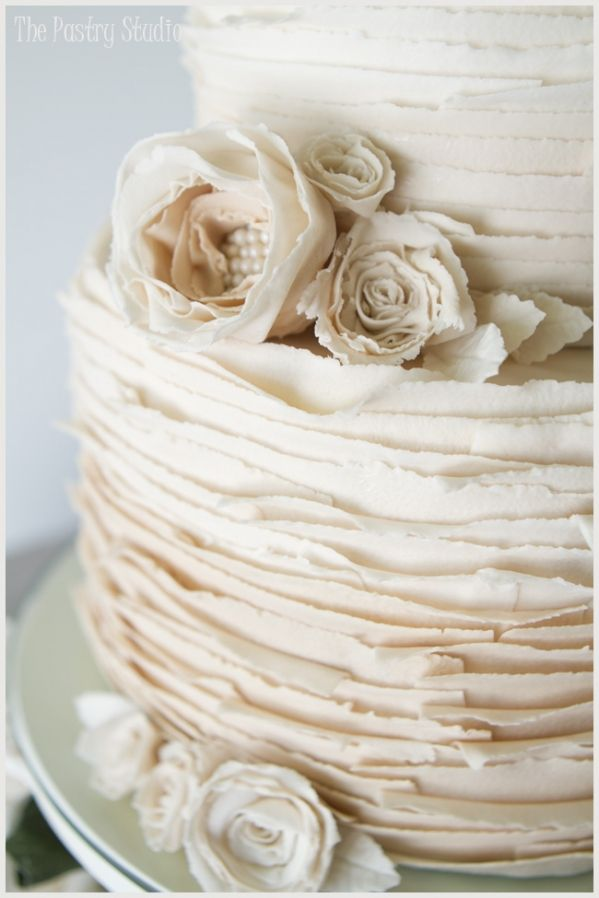 26 Oh So Pretty Ombre Wedding Cake Ideas ombre vintage wedding cake with pearls and roses