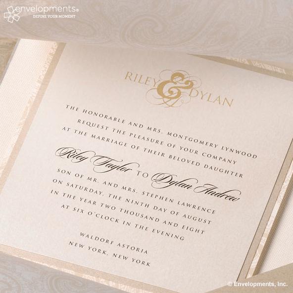 Cream And Ivory Wedding Invitation