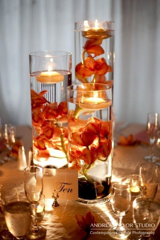 Inexpensive Table Decorations Wedding Receptions