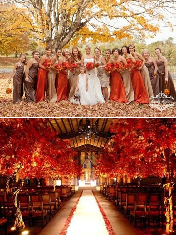 And Wedding Themes September Colors