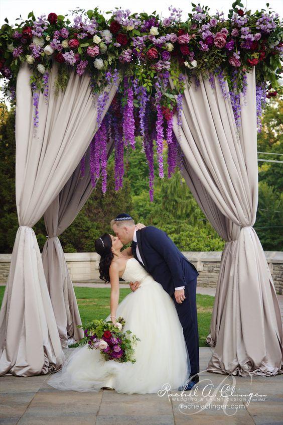 Imaginative Unique Floral Wedding Chuppah Altar Decoration Ideas