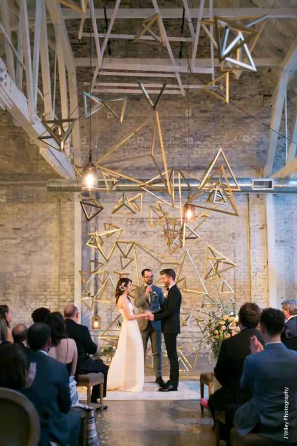 25 Modern Industrial Geometric Wedding Ideas
