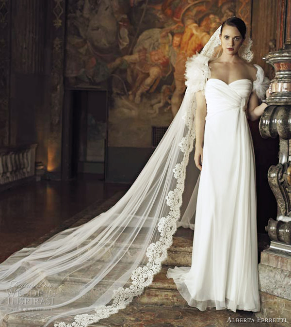 alberta ferretti wedding dresses 2013 bridal column gown short sleeves