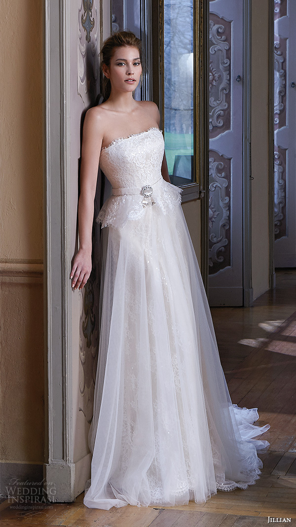 jillian 2016 wedding dresses srtapless straigh across neckline beautiful tulle a line wedding dress camilla