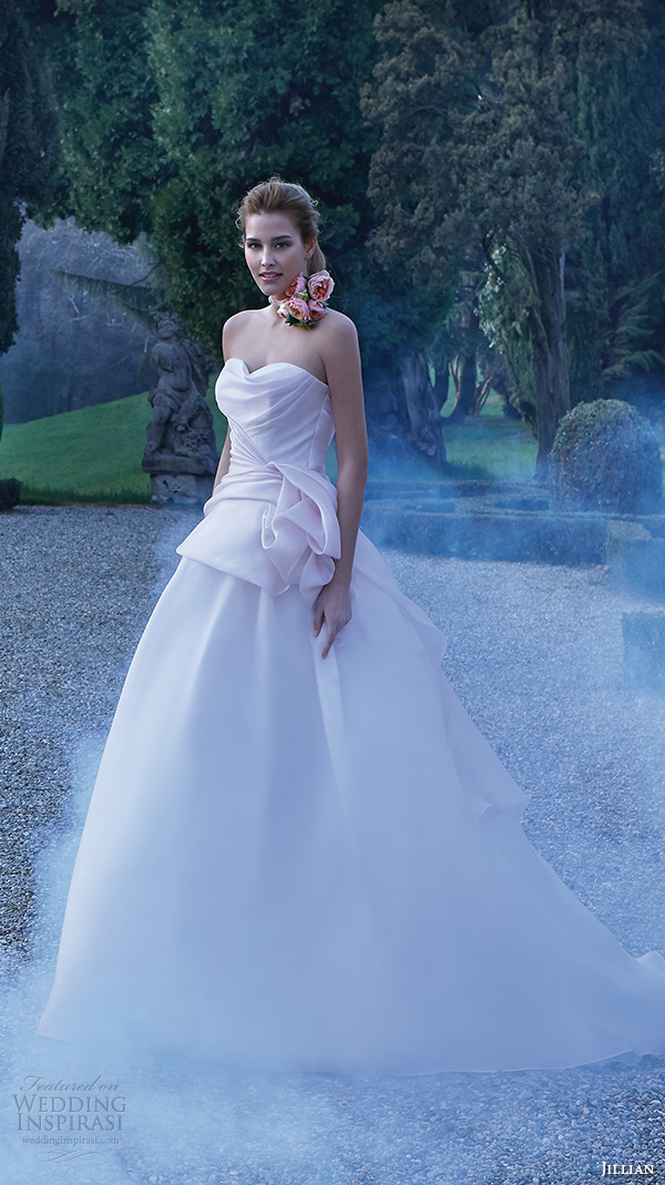 jillian 2016 wedding dresses strapless sweetheart neckline ruche bodice pretty pink ball gown wedding dress cassandra