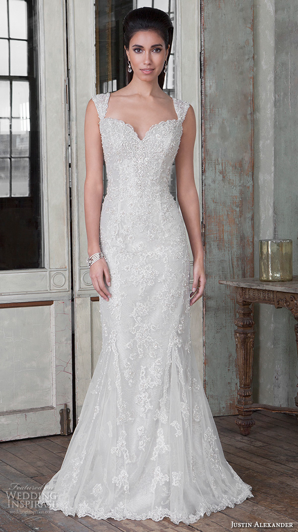 justin alexander signature spring 2016 beautiful mermaid wedding dress fit flare trumpet sweetheart neckline beaded embroidery 9810