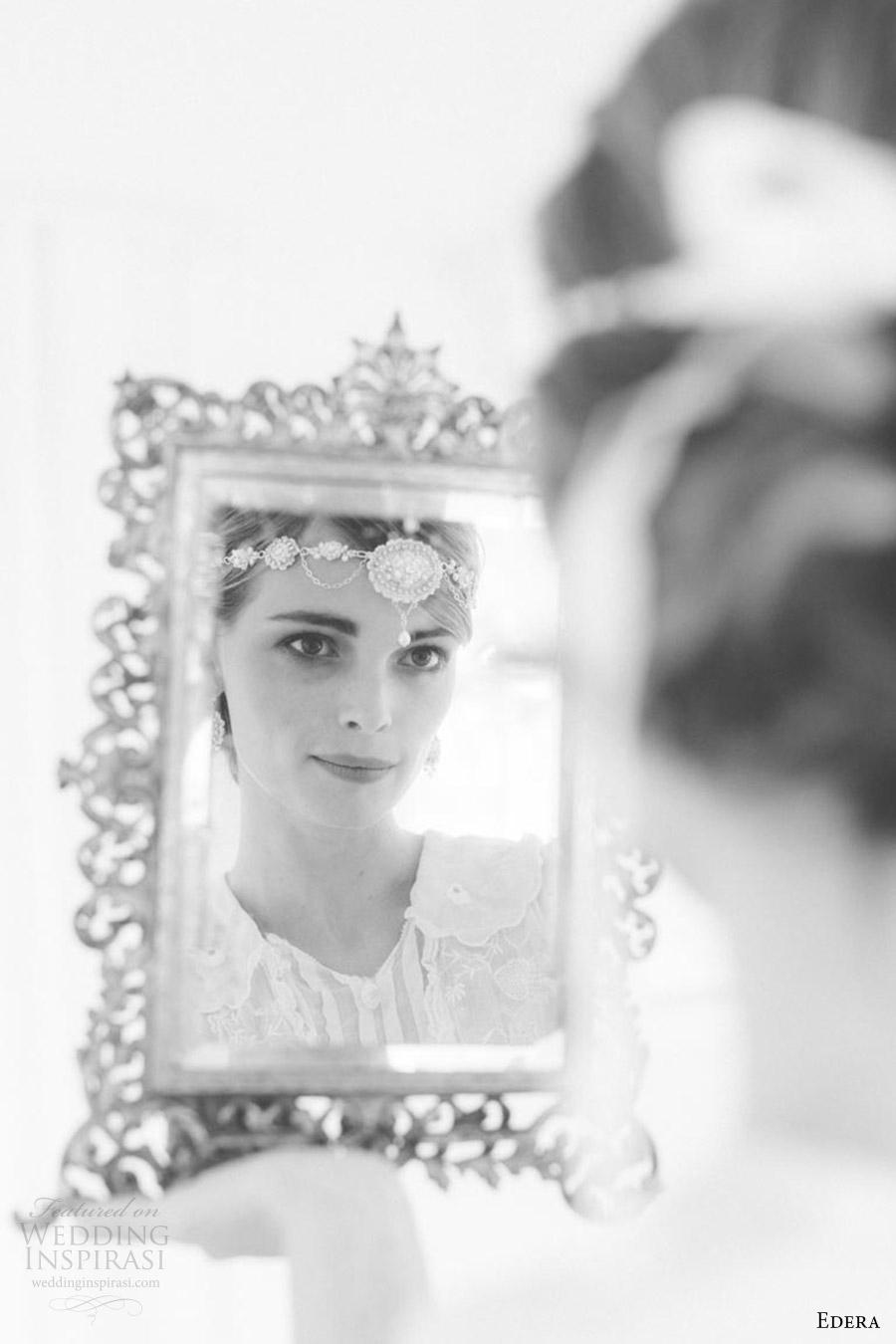 edera jewelry 2016 bridal accessories collection (amandine) halo mirror mirror