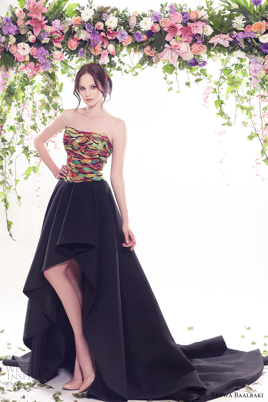fadwa baalbaki spring 2016 couture strapless straight across mullet evening dress mv