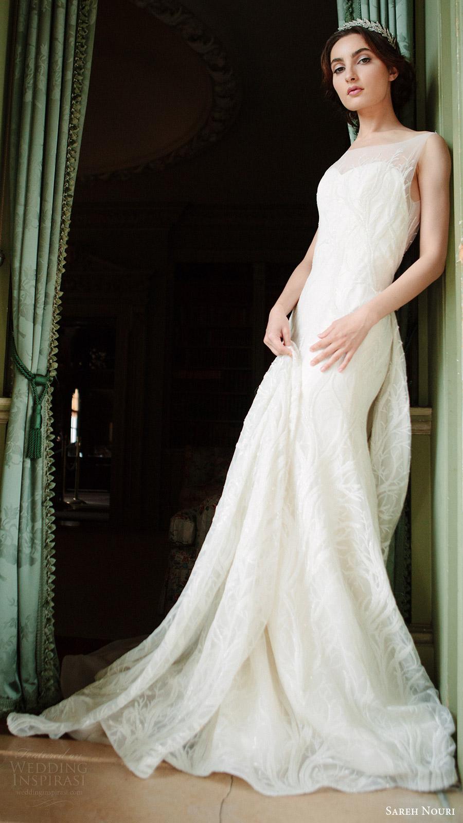 sareh nouri bridal fall 2016 sleeveless sweetheart illusion scoop neck lace wedding dress (shiraz) mv elegant