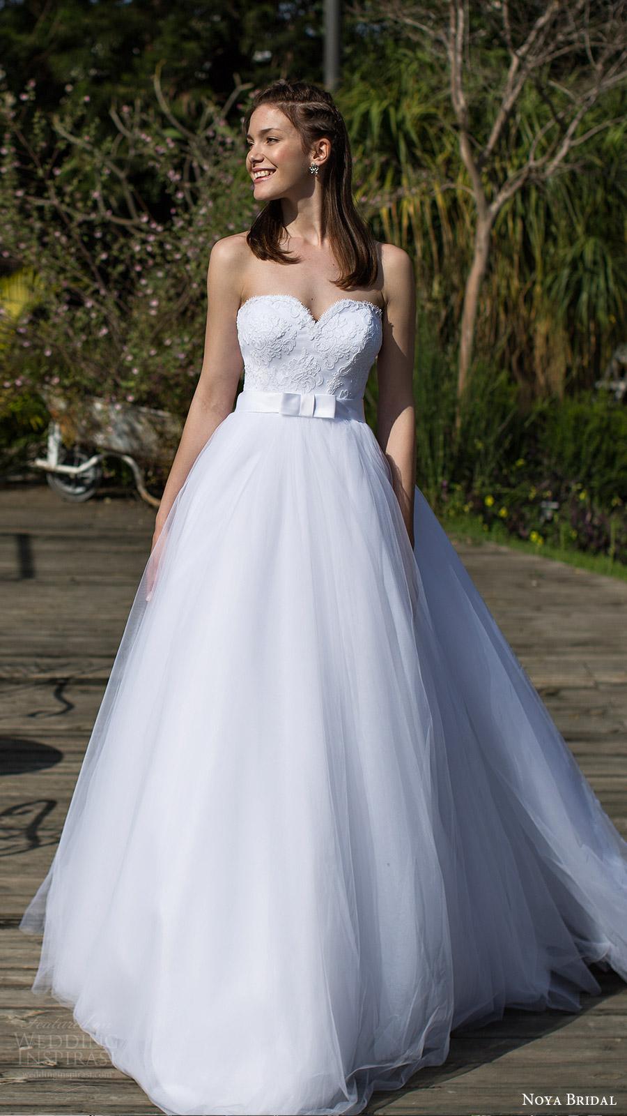 noya bridal 2016 3 strapless sweetheart ball gown wedding dress (1210) mv princess romantic