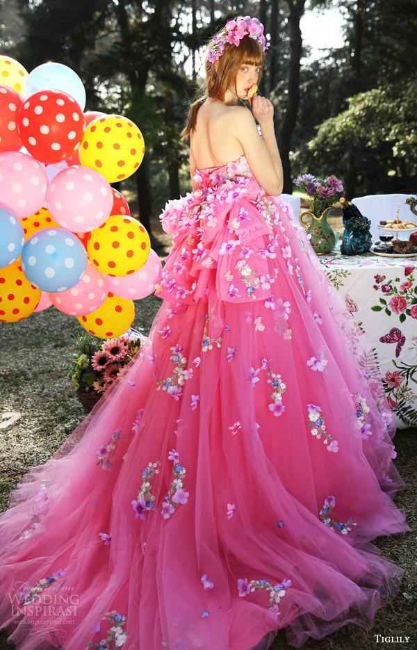 b478df4fdc435 tiglily bridal 2016 strapless semi sweetheart ball gown wedding dress  (lilian) mv pink color