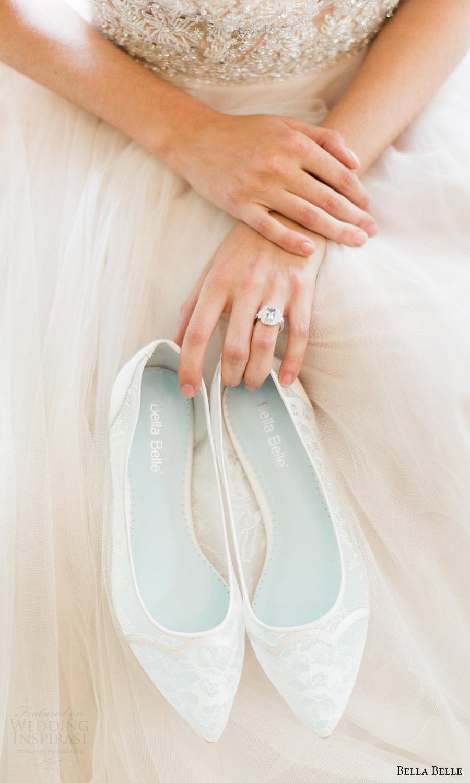bella belle bridal shoes 2016 sophie scalloped chantily lace flat wedding shoes
