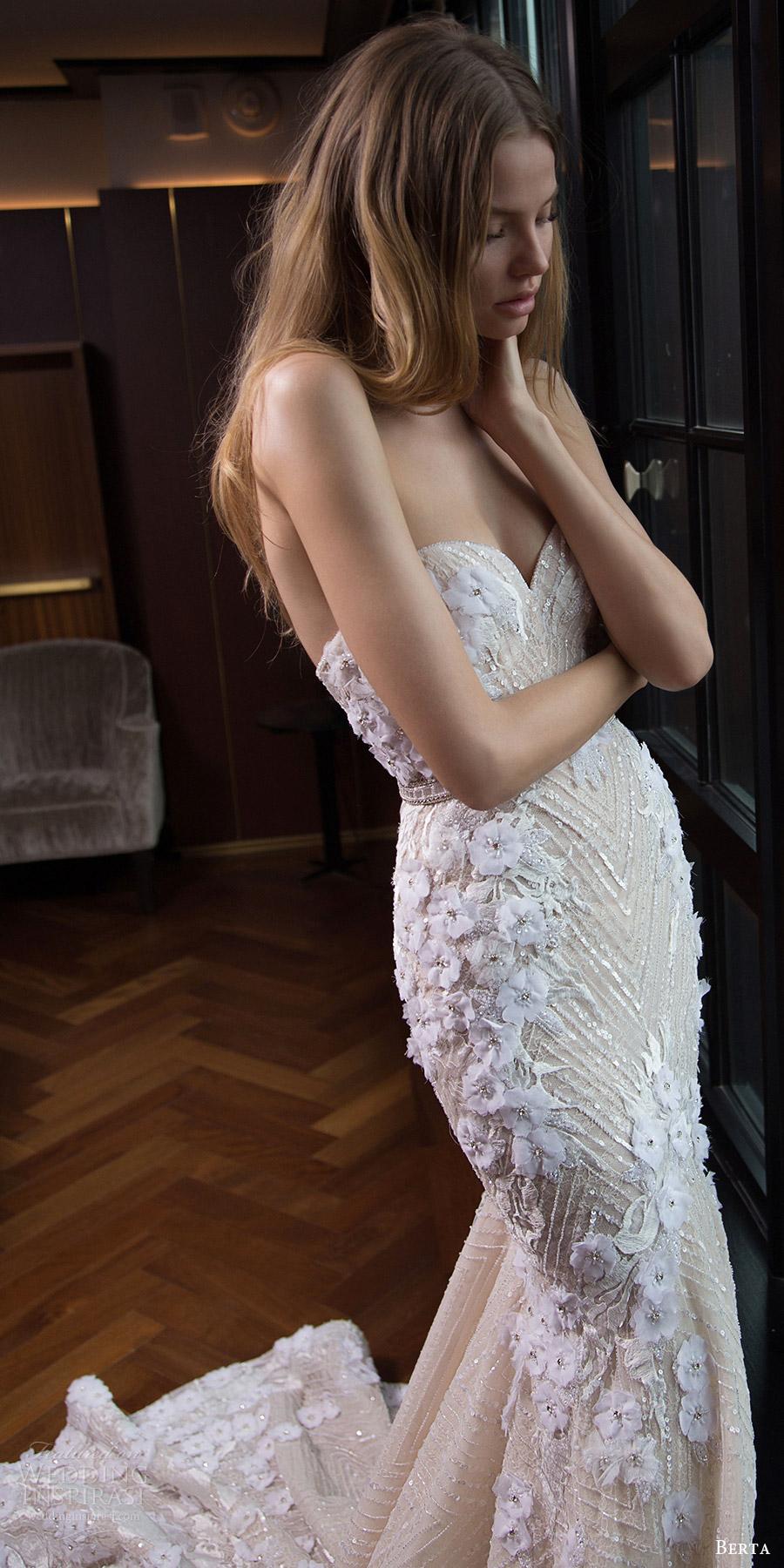 berta bridal fall 2016 strapless sweetheart trumpet wedding dress (16 104) mv