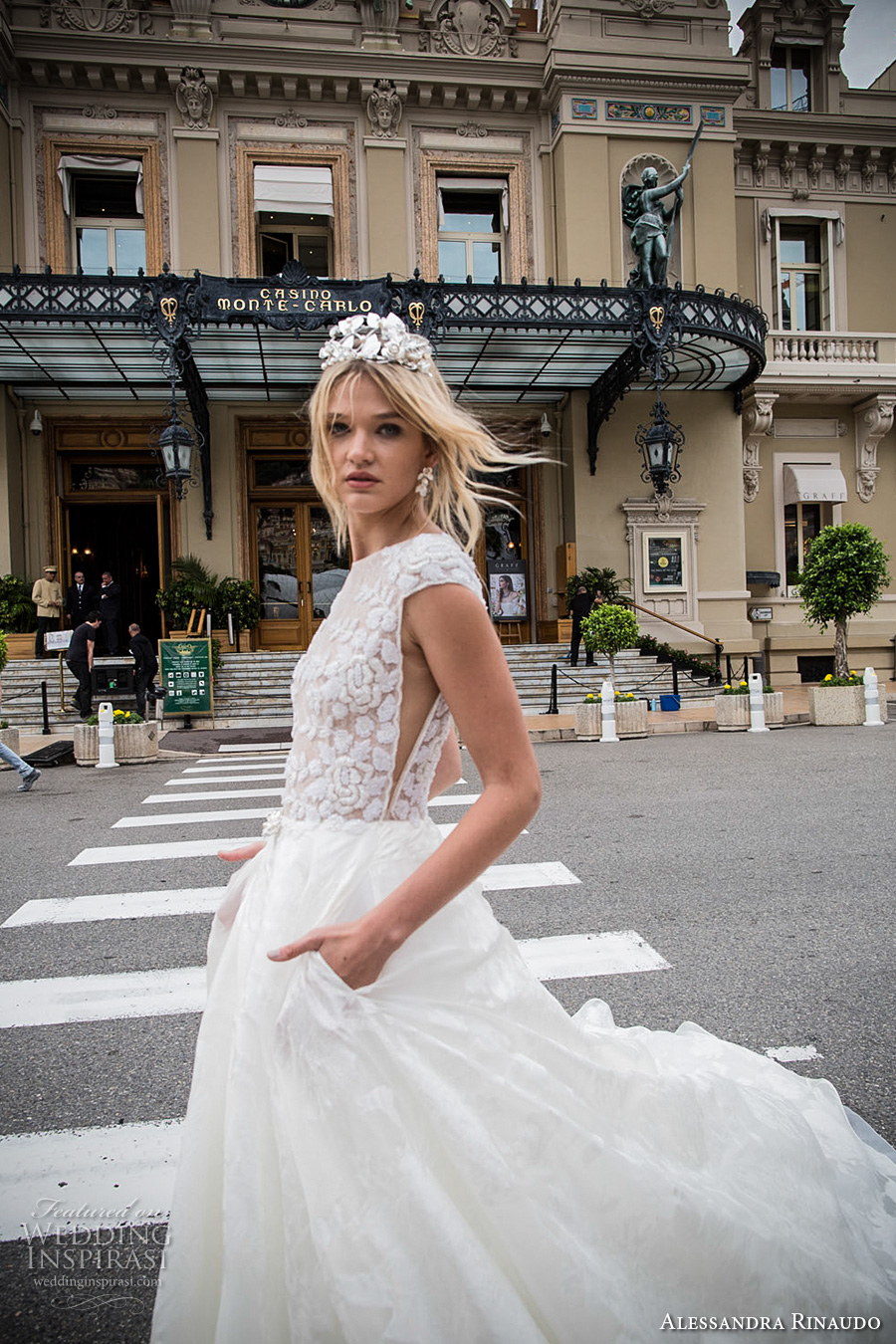 alessandra rinaudo 2017 bridal cap sleeves bateau neckline floral heavily embellished bodice romantic princess a  line wedding dress with pockets lace back royal long train (4) sdv