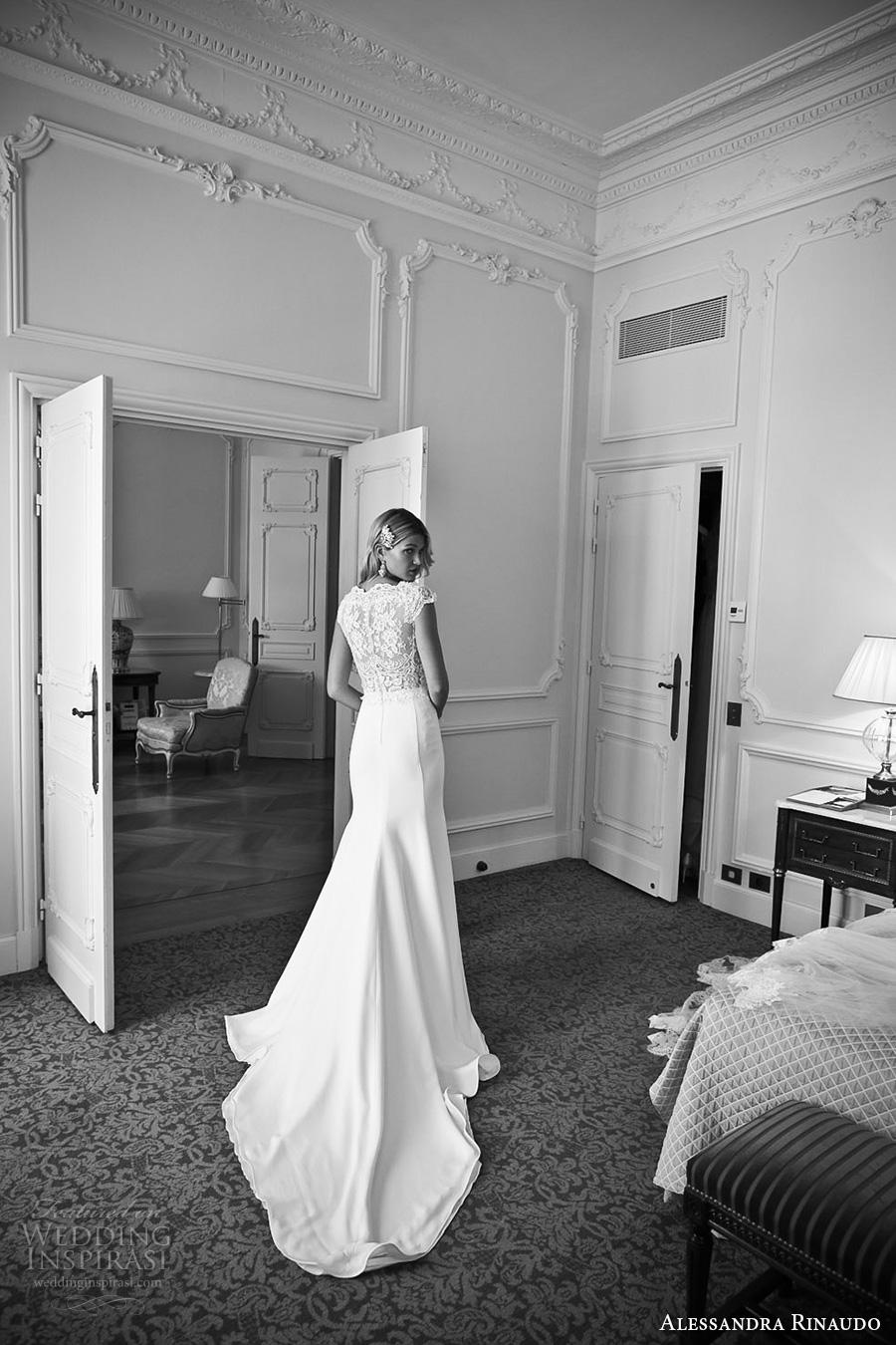 alessandra rinaudo 2017 bridal cap sleeves bateau neckline heavily embellished bodice elegant sheath wedding dress lace back chapel train (17) bv