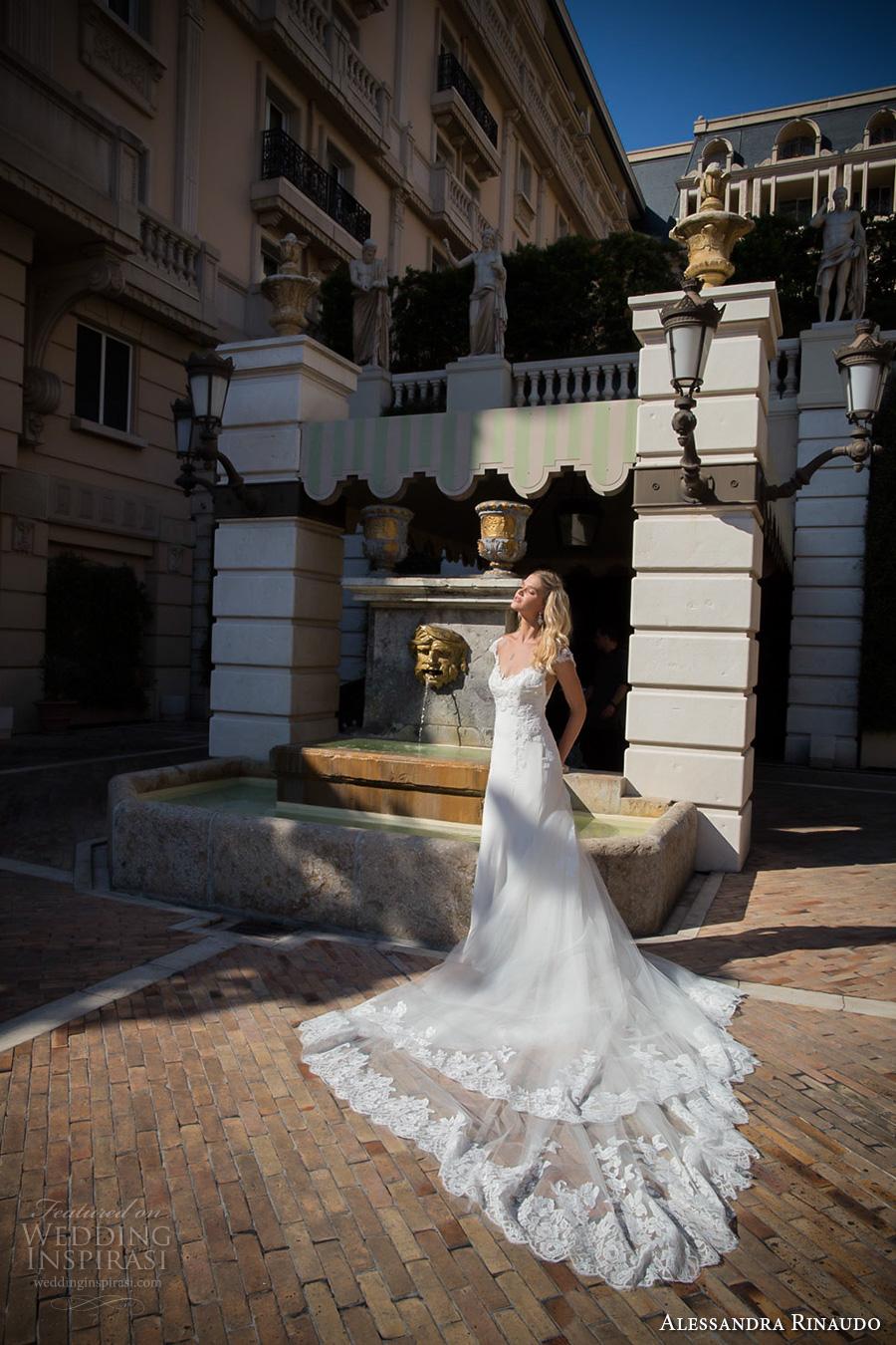 alessandra rinaudo 2017 bridal cap sleeves sweetheart neckline heavily embellished bodice elegant a  line wedding dress illusion back long train (31) mv