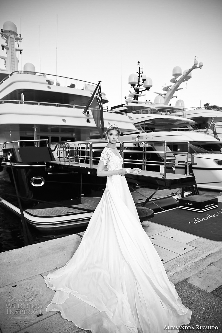alessandra rinaudo 2017 bridal illusion long sleeves illusion boat neck v neck heavily embellished bodice sheer back long train (23) mv