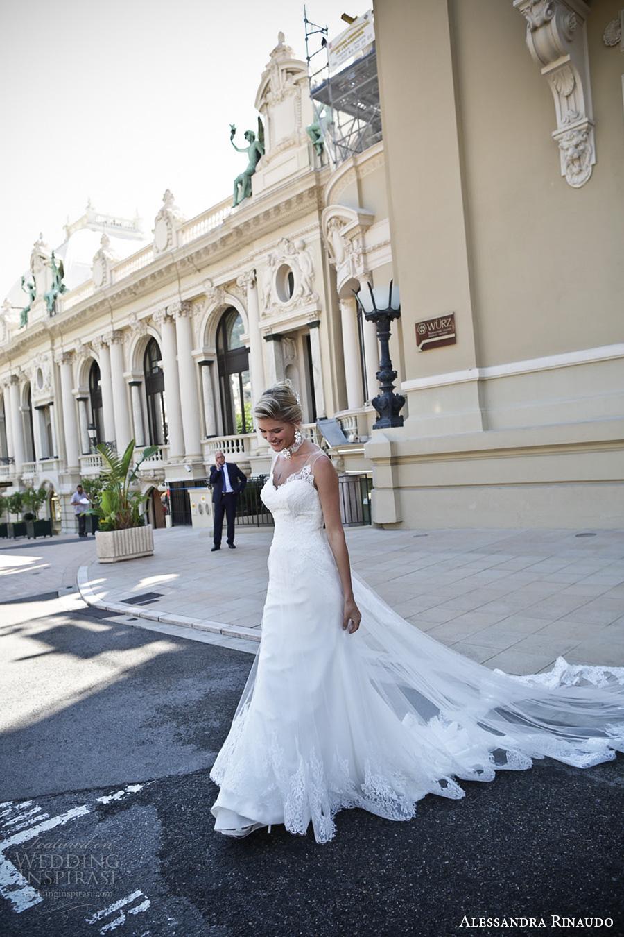 alessandra rinaudo 2017 bridal sleeveless illusion thick strap sweetheart neckline heavily embellished bodice elegant a  line wedding dress keyhole back long train (16a) mv