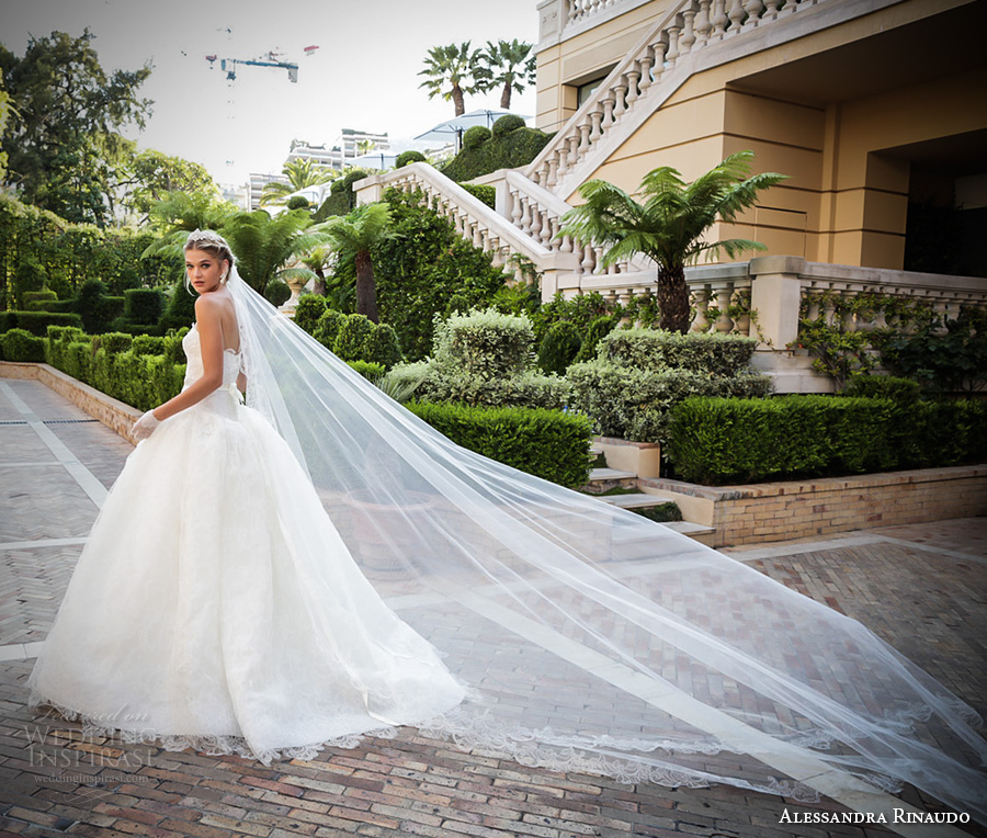 alessandra rinaudo 2017 bridal strapless semi sweetheart neckline heavily embellished bodice romantic ball gown wedding dress sweep train (33) bv