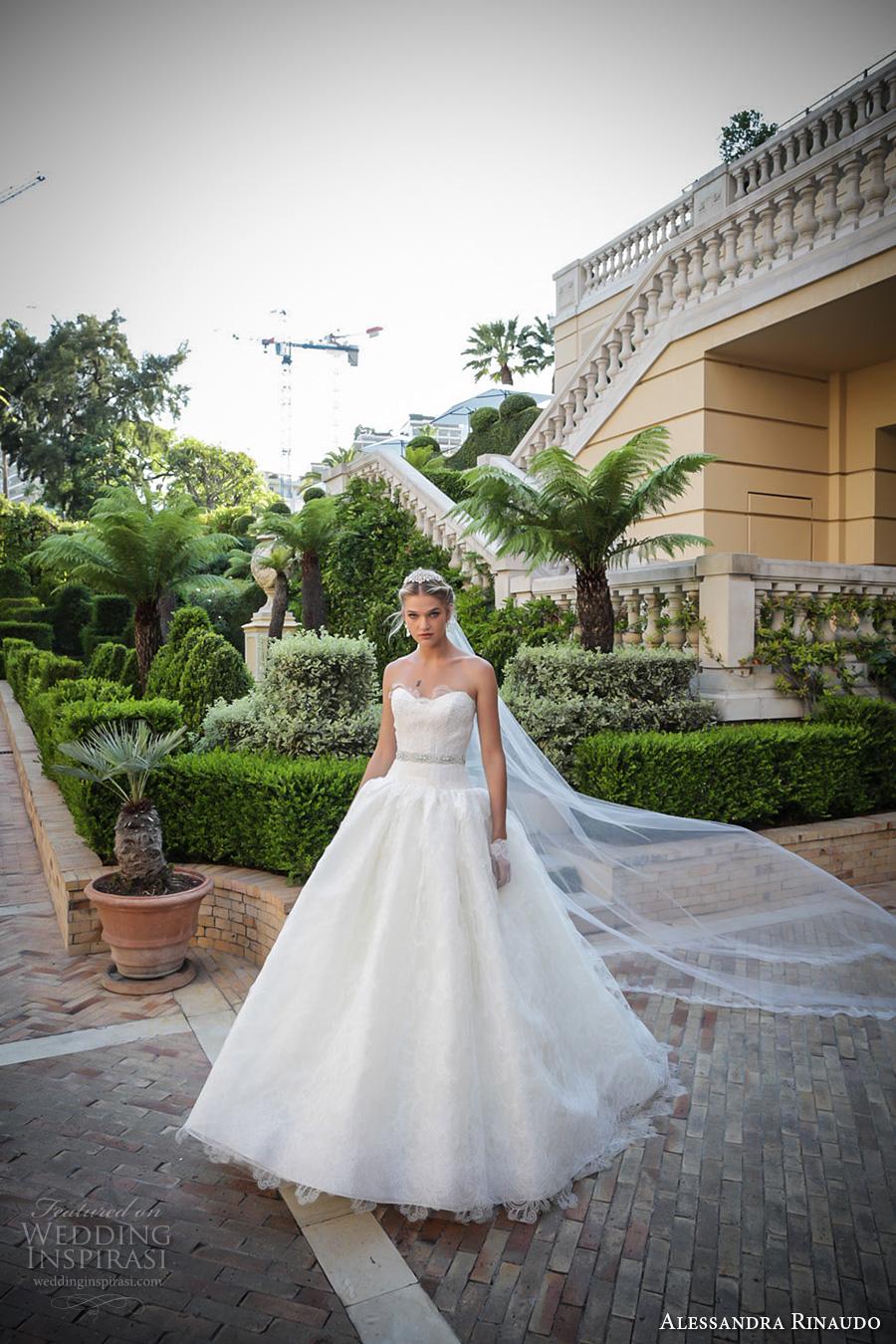 alessandra rinaudo 2017 bridal strapless semi sweetheart neckline heavily embellished bodice romantic ball gown wedding dress sweep train (33) mv