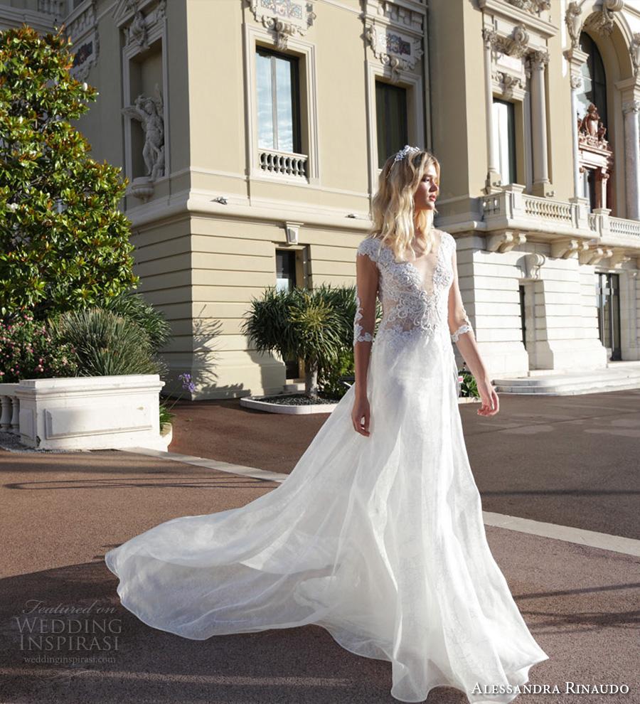 Simple And Elegant Wedding Dresses Boat Neck Three Quarter: Alessandra Rinaudo Bridal Couture 2017 Wedding Dresses