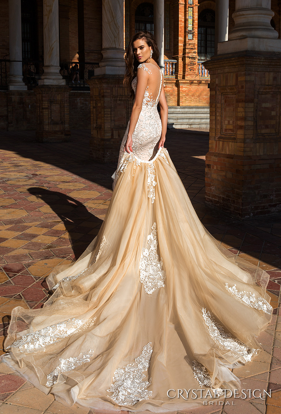 7141c20bed7 crystal design 2017 bridal cap sleeves jewel neckline heavily embroidered bodice  princess elegant ivory color detachable