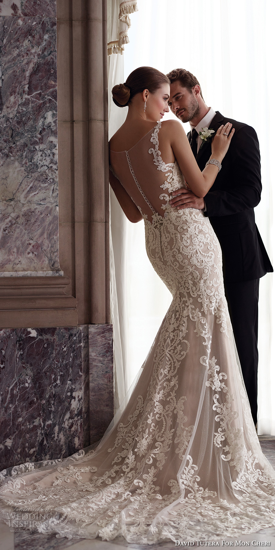 3965d2928e3 david tutera mc spring 2017 bridal thin lace strap v neckline full  embroidered elegant beautiful fit