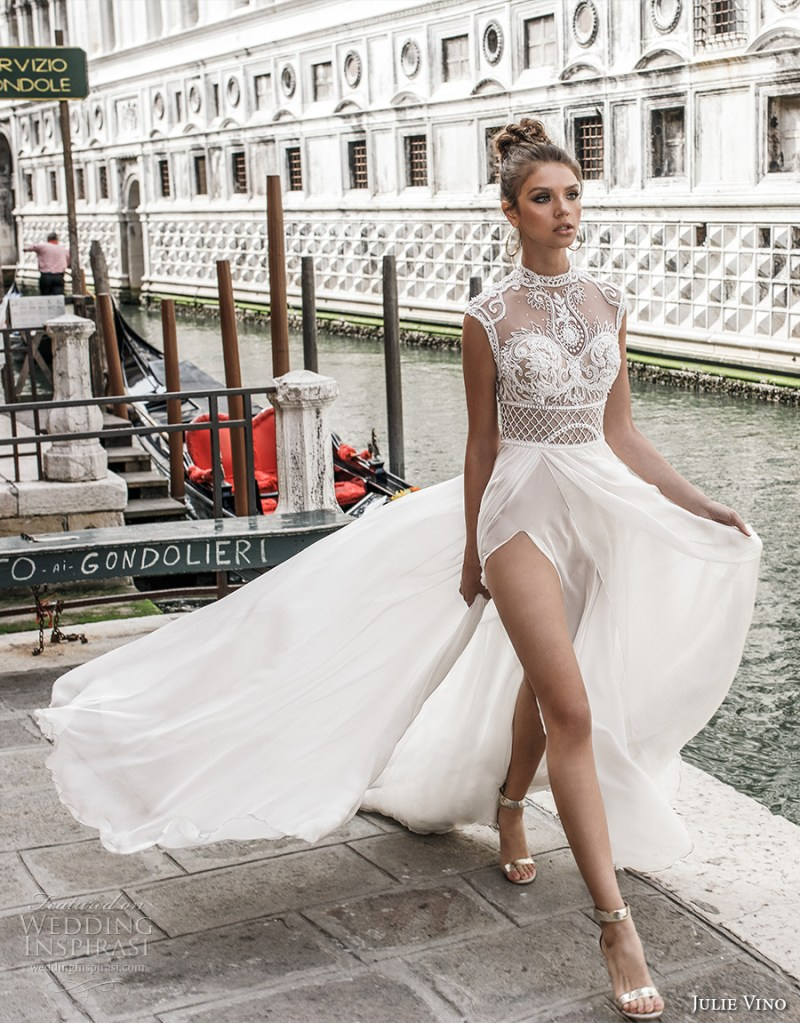 b2d1539eb3 ... Sweetheart Neckline Heavily Embellished Bodice Flowy Skirt. Julie Vino  Spring 2018 Wedding Dresses Venezia Bridal Collection