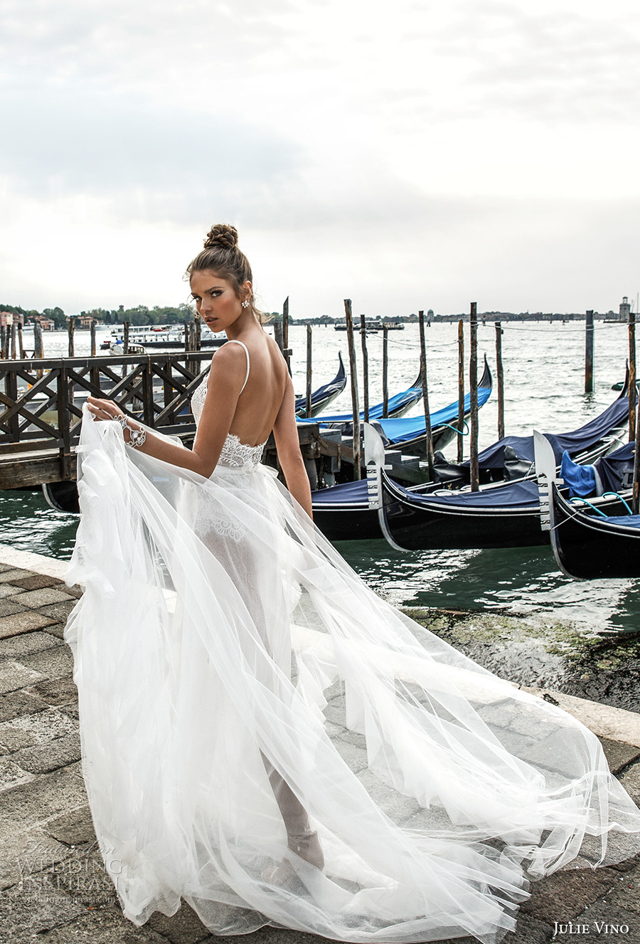 483d40e0836c julie vino spring 2018 bridal spagetti strap sweetheart neckline heavily  embellished bodice flowy tulle skirt romantic